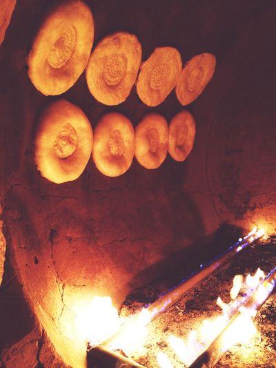 Hello World Uzbekistan Tashkent Tandir Bread Love Pastel Power Fire