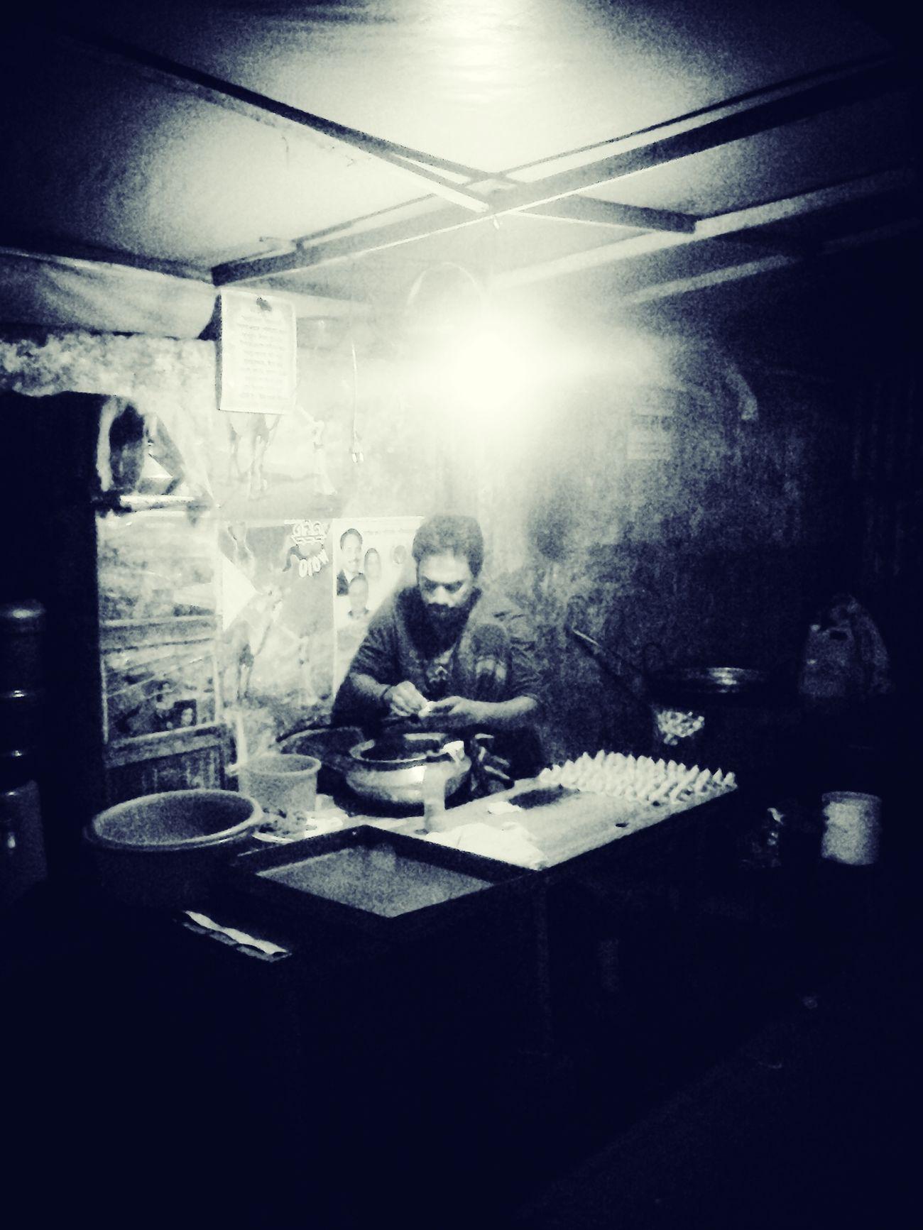 Poor People  Making Food At Late Night Occupation Dhaka Bangladesh