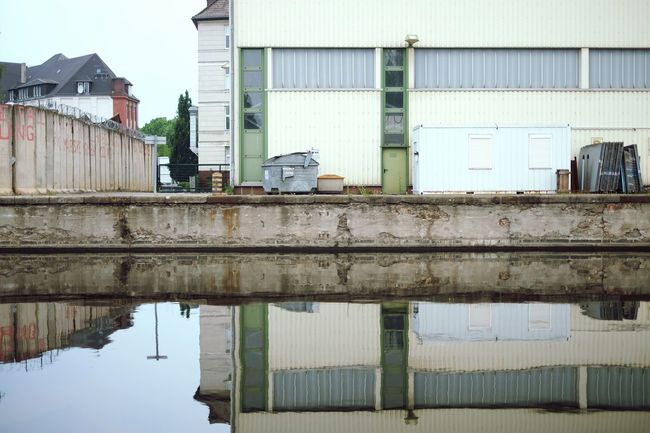 Industrial Water Reflections Urban Landscape Architecture Urban Geometry Open Edit