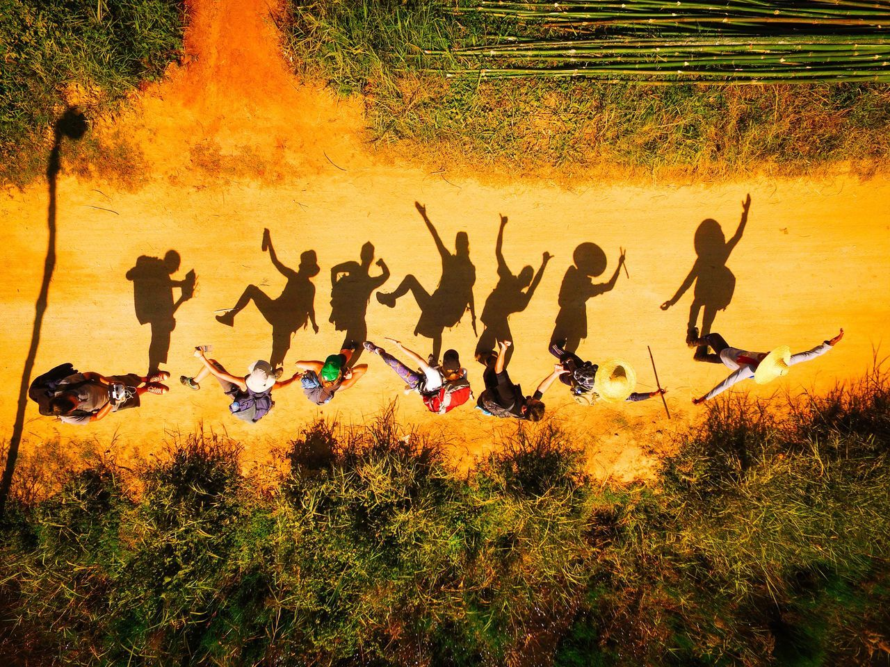 Time for fun after our 3 day hike from Kalaw to Inle Lake. ASIA Bestoftheday Birds Eye View Drone  Drone Moments Drone Photography Dronephotography Drones Droneshot From Above  From My Point Of View Fun Funny Moments Funny Pics Hiking Hiking Adventures Hiking Trail Hikingadventures Large Group Of People Outdoor Photography Outdoors Party Party Time People Shadow