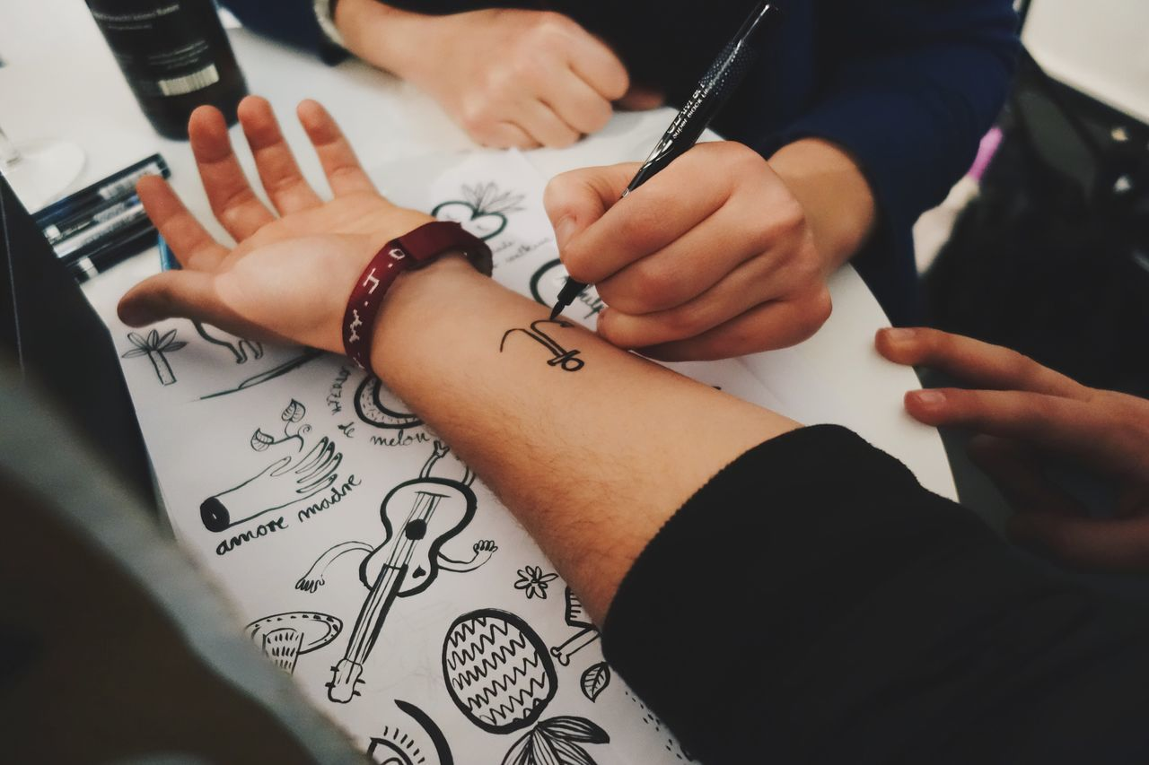 Tattoo Drawing Human Body Part Arm Pen