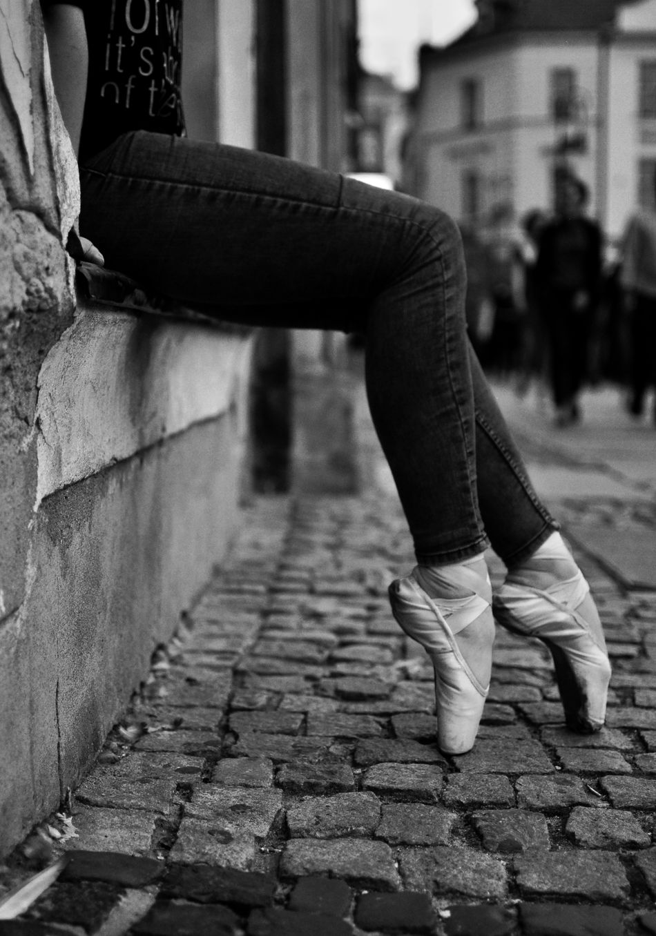 Ballet Blackandwhite City Dance Dancer Girl Legs Monochrome Photography Old Town Person Pointe Shoes Shoe