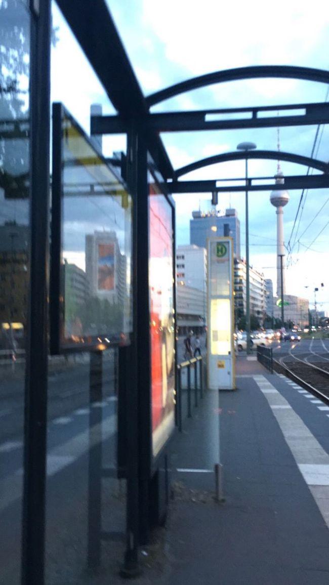 Berlin Mirror Reflection Blurred Motion Tvtower Tvtowerberlin Sohohouse Tramstop Stop
