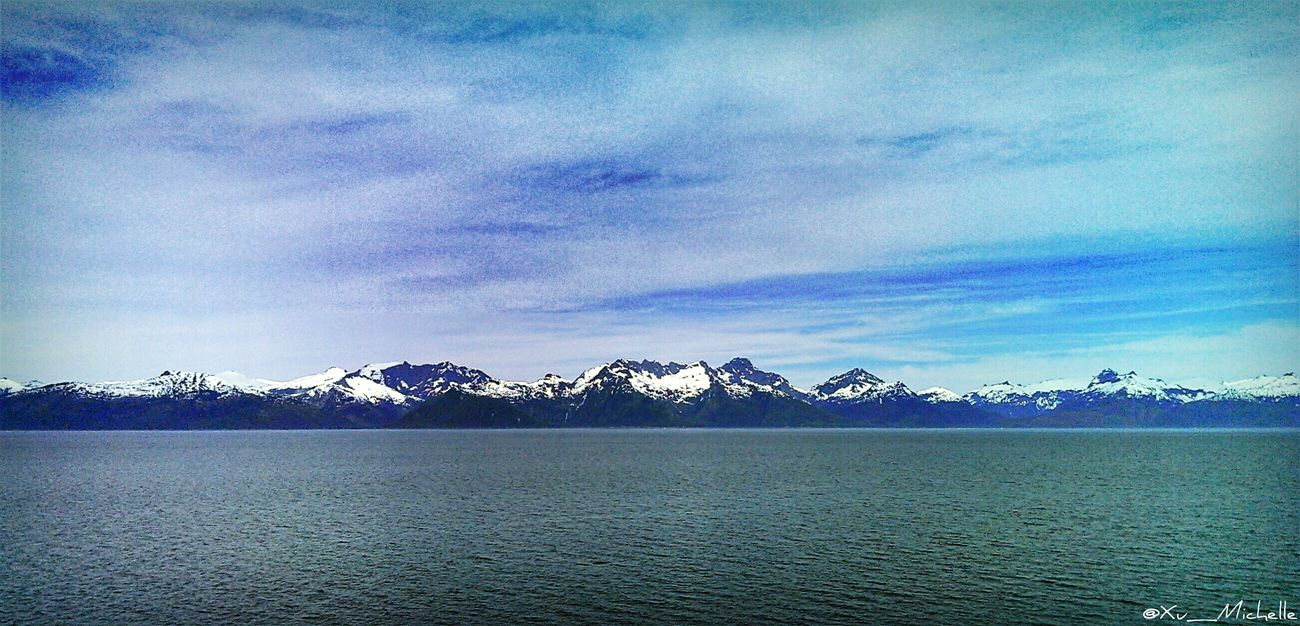 I miss that winter wonderland «tb to Alaska» Sky_ Collection Clouds And Sky Skyporn Landscape Nature Travel Water_ Collection  Alaska