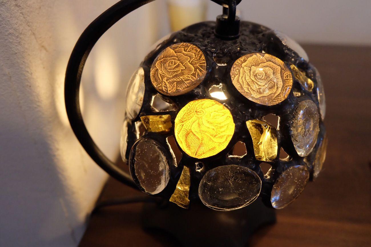 Tokyo 八王子 Japan カフェ Cafe Light 薔薇 Rose🌹 Lamp Lampada ランプ