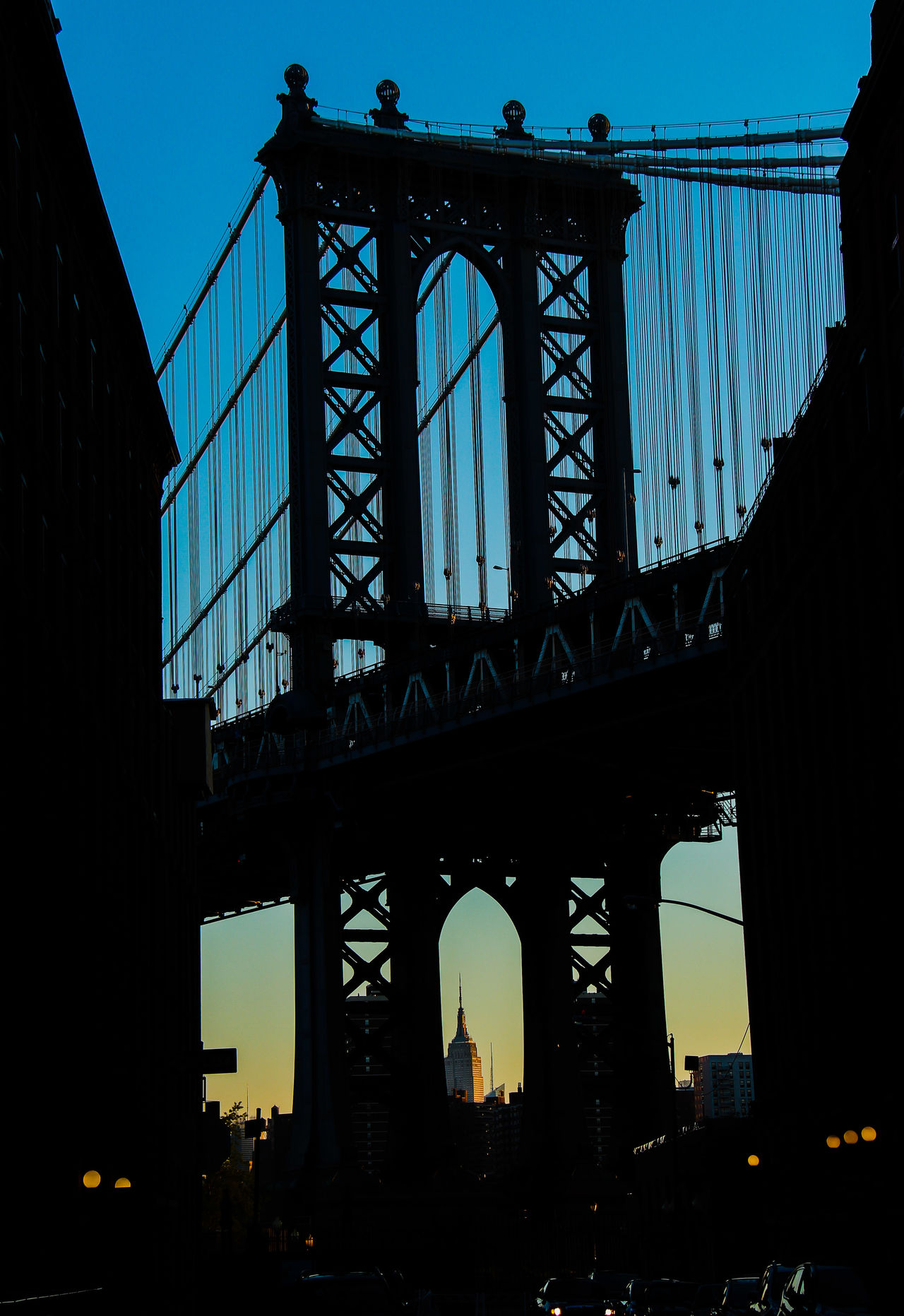 Manatthan Bridge Silhouette