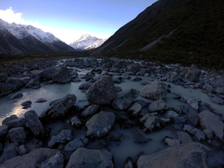 Mount Cook Nature New Zealand Landscape Track Walk