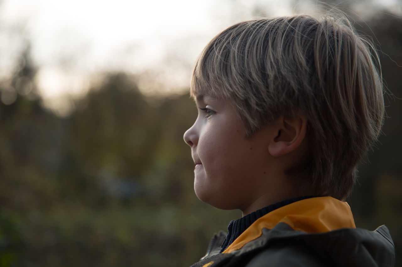 Profile View Of Thoughtful Boy