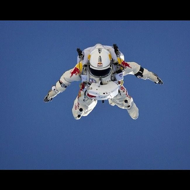 Breaking the speed of sound. Surpassed Mach 1. Historic jump. Felixbaumgartner Redbullstratos Stratosphere Jump history worldrecord redbull @redbullstratos mach speed speedofsound