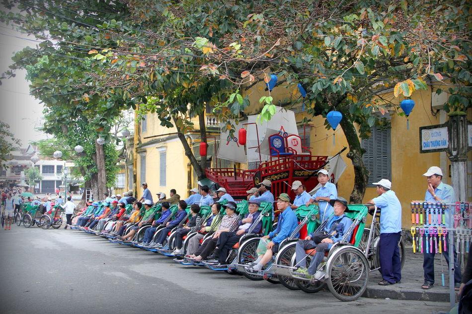 Cyclo Hoi An, Vietnam Hoian, Vietnam Large Group Of People Outdoors People Urban Xích Lô