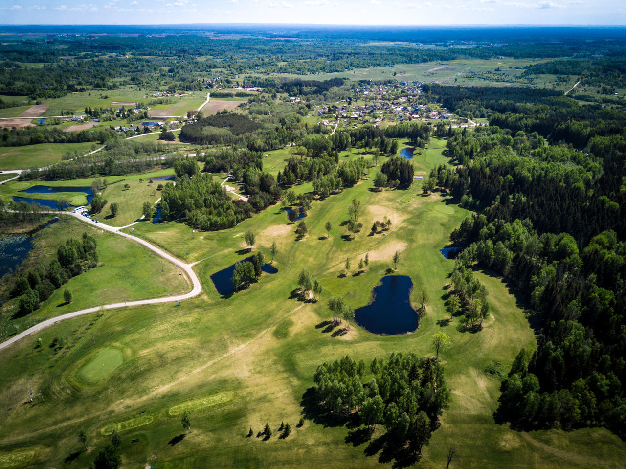 Golf field from above - ponds, forest, green scenery Ball Competition Drone  Forest From Above  Game Golf Golf Golf Course Golf Field Green Green - Golf Course Green Color Hole Landscape Lawn Nature Outdoors Pond Resort Sand Trap Scenics Sport Sun Water