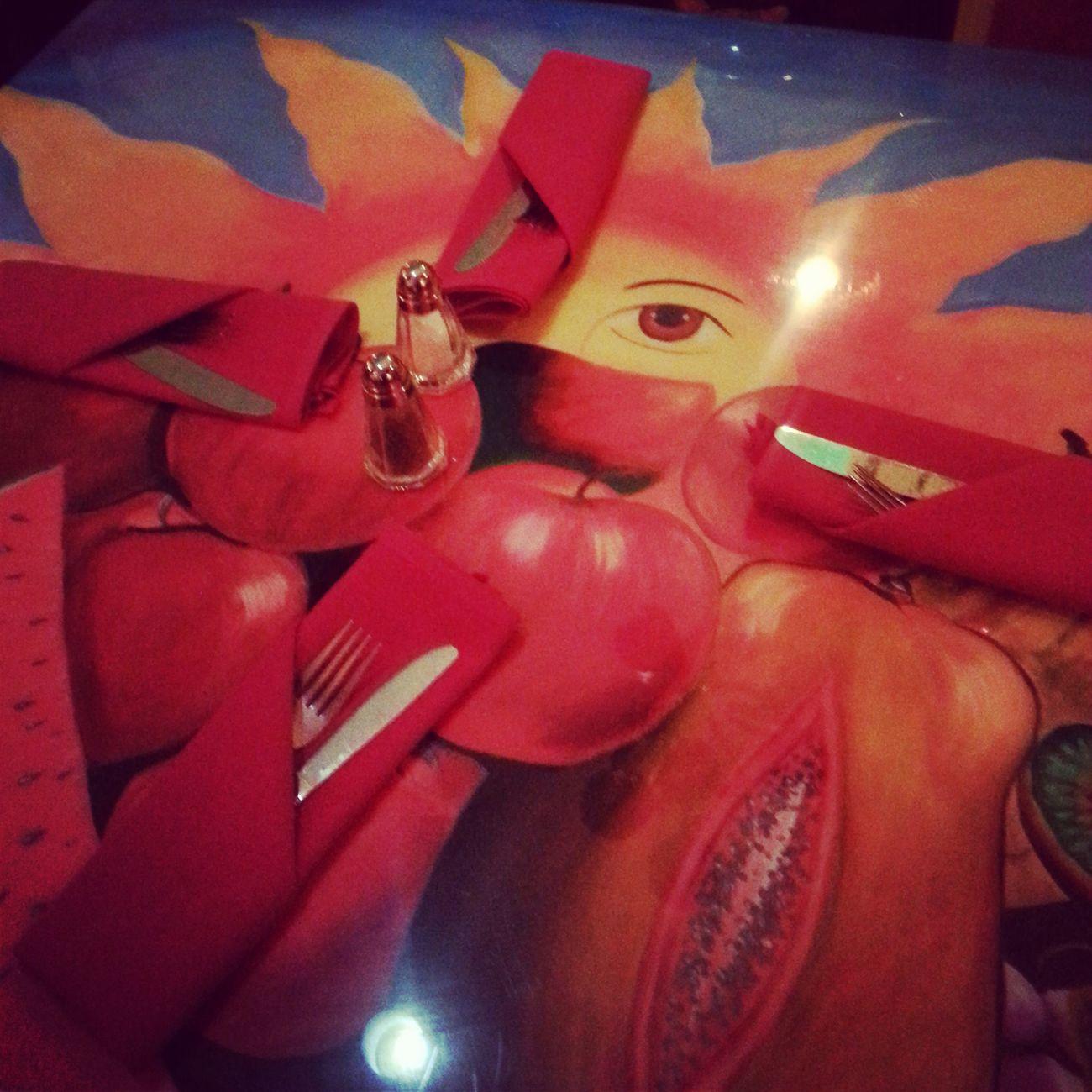 Table Tabletop Tablesetting Utensils Table Art Table Arrangement Color Sun Full Frame Restaurant