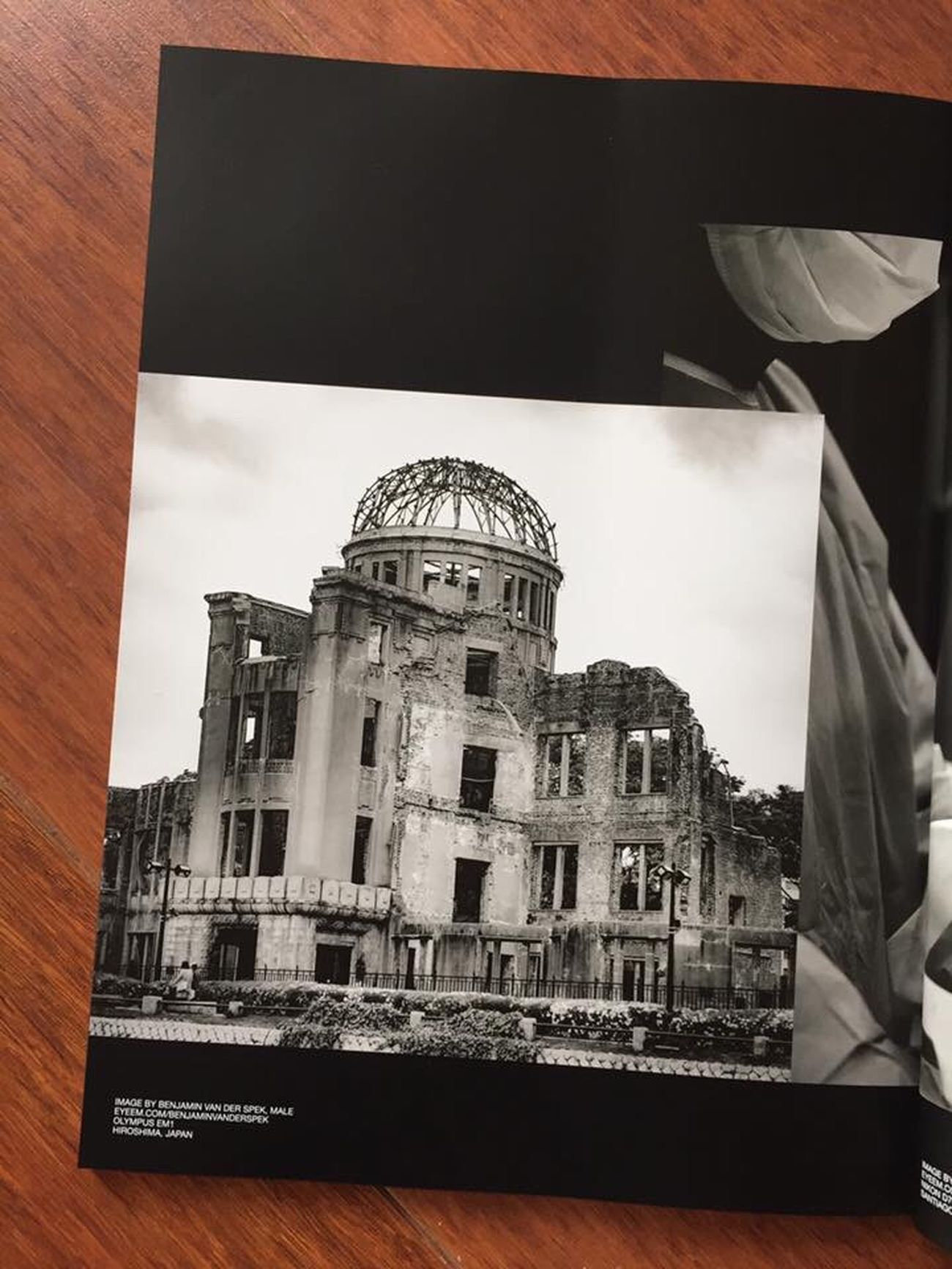 I am very proud to see my work published again in EyeEm's glossy photo-magazine. This time a photo from Hiroshima's fateful peace memorial, published in Volume 5. I have strong memories of our visit to Hiroshima. It is such a beautiful place now, it's hard to image it was once turned into hell on earth by a nuclear bomb. The memorial is part of the serene Hiroshima Peace Memorial Park and the nearby museum brought tears to my eyes. Thanks @team EyeEmMagazine Volume 5 Eyeem Magazine Vol V Diversity Travel Black And White Hiroshima Japan Memorial Park