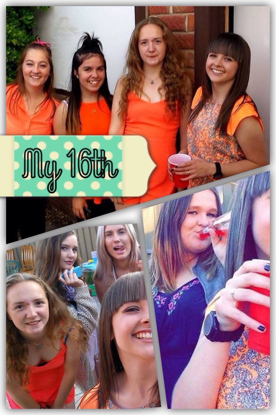 My lovely birthday party 16th Friends Collage