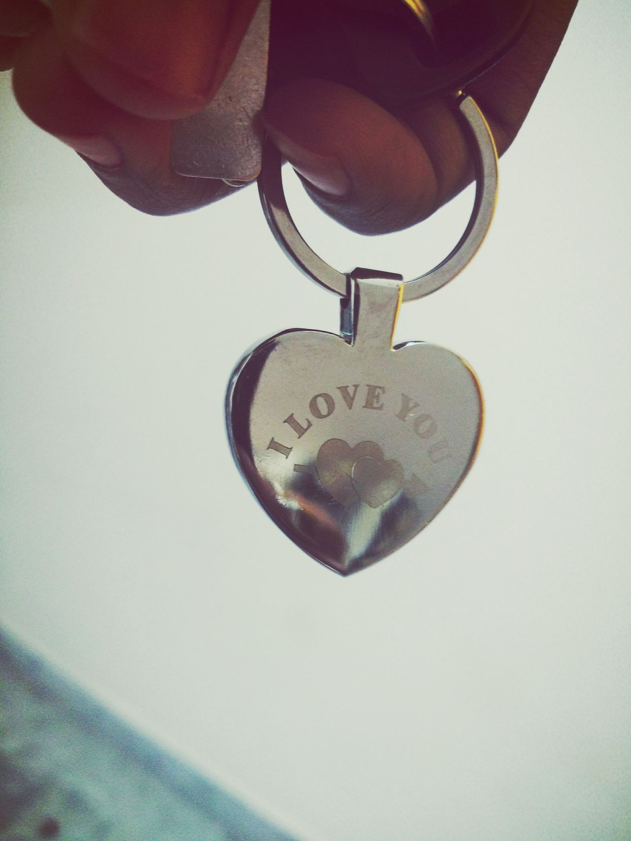 Close-up Human Hand Day Heart ❤ ı Love You Key Chain 😍😌😊