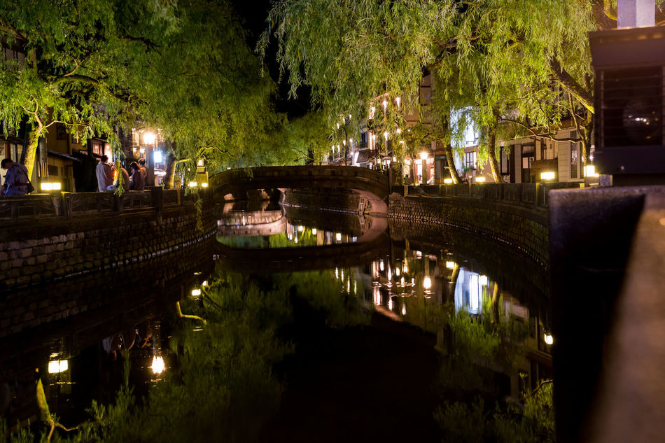 Architecture Bridge - Man Made Structure Canal City Cityscape Illuminated Japanese Culture Kinosaki Large Group Of People Nature Nautical Vessel Night Outdoors People Reflection Sky Tradition Tree Water