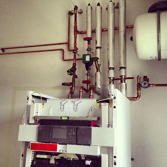 Viessmann Heatpump Kirchhain Work Pipe Water Heat White Isolation Copper  Like Instapic Instafollow 20likes Follow2follow