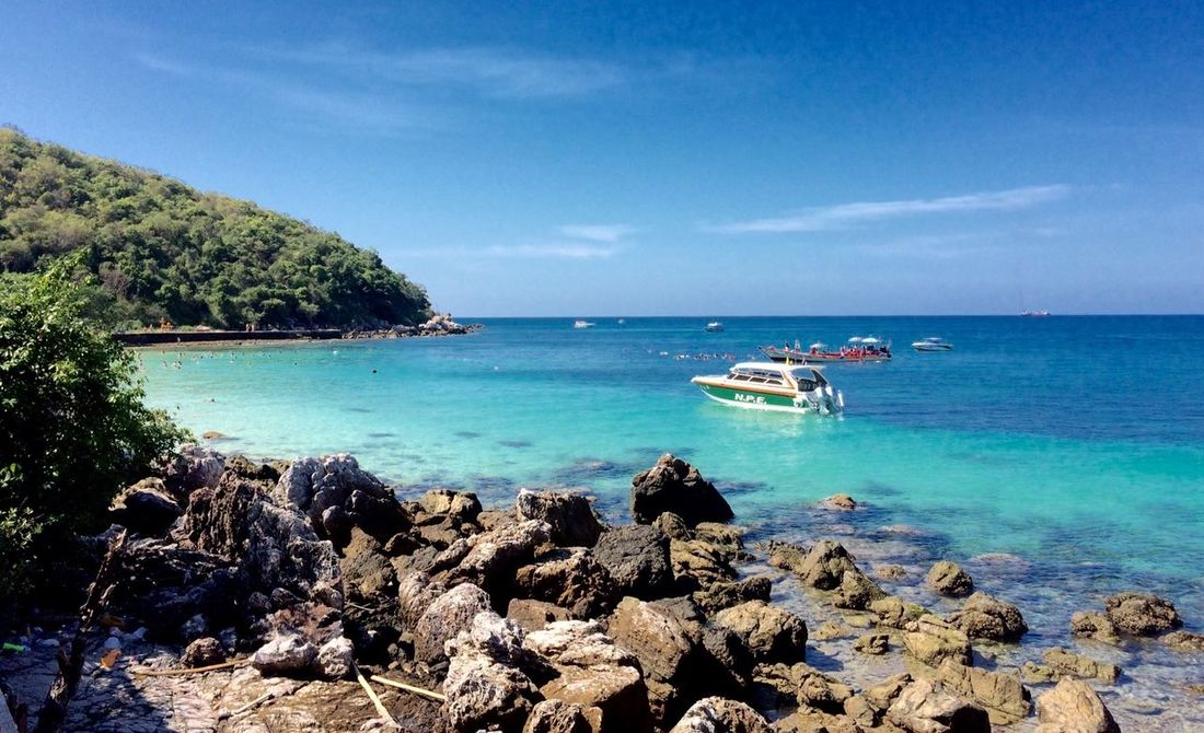 Thailand Island Kolan Sea Blue Water Sky Nature Holiday Vocation Boat Good Mood Nice Veiw