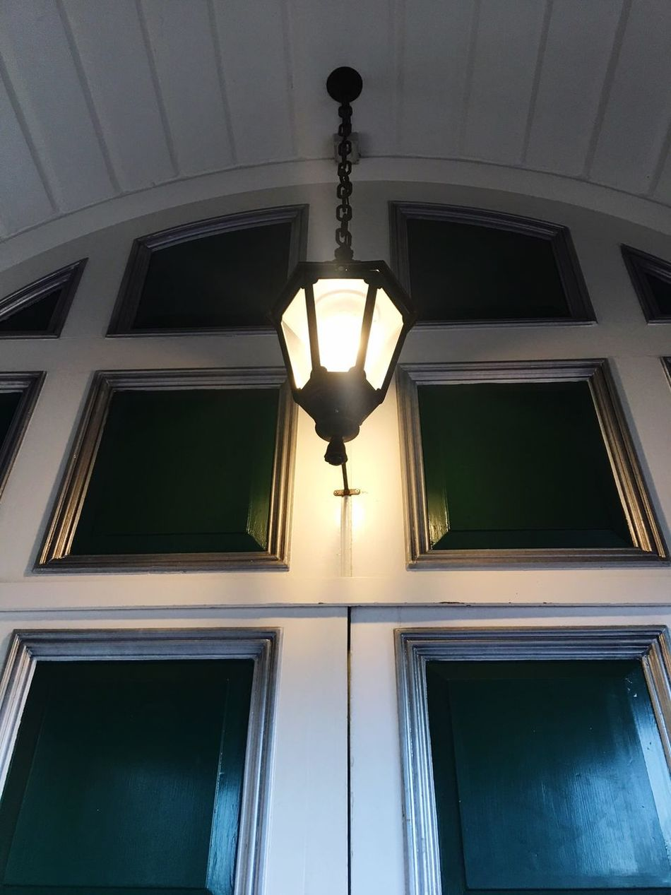 The doorway light Low Angle View Electric Light Architectural Feature Illuminated Doorway Entrance Light Doorway Lights