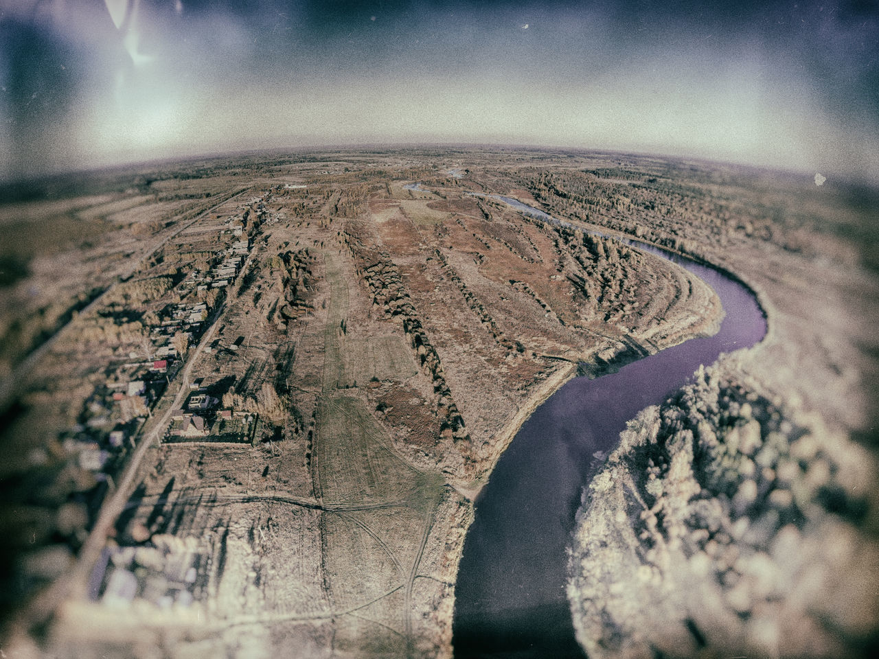 Aerial view of the river Mologa near the village Kuznetsy. A Bird's Eye View Aerial Aerial View Beauty In Nature Drone  Dronephotography Landscape Nature No People Outdoors Scenics Sky Tranquil Scene