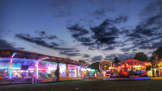 Fairground Attraction Street Photography HDR Streetphotography Fairground Fairground Attraction In The Park Panasonic Lumix Mirrorless Fairground Rides Dodgems Creative Photography Night Photography Hdr Edit Hdr_Collection Dusk Hdr_lovers Sky And Clouds Skyporn Cloudporn Creative Light And Shadow HDR