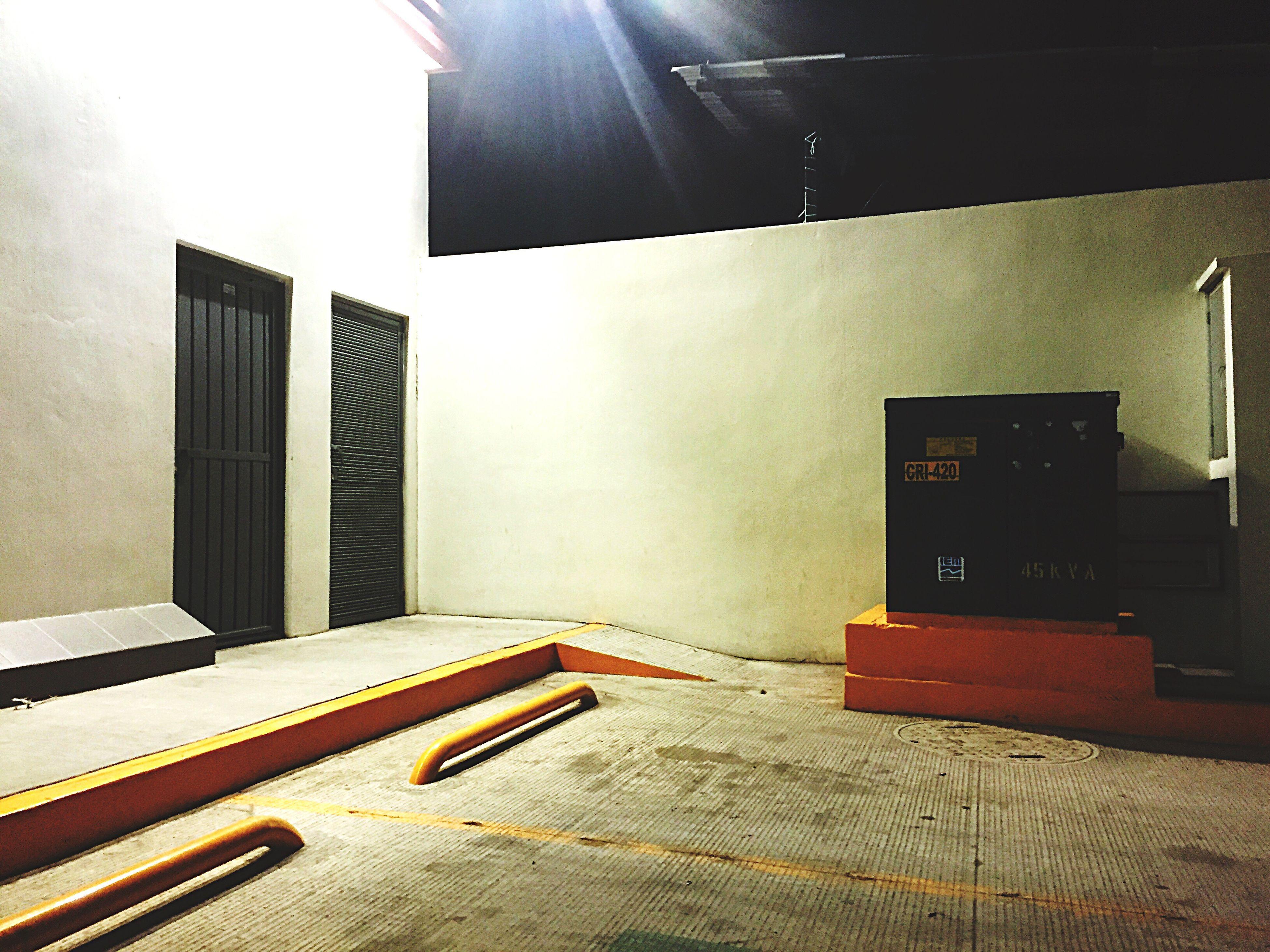 indoors, illuminated, no people, architecture, day