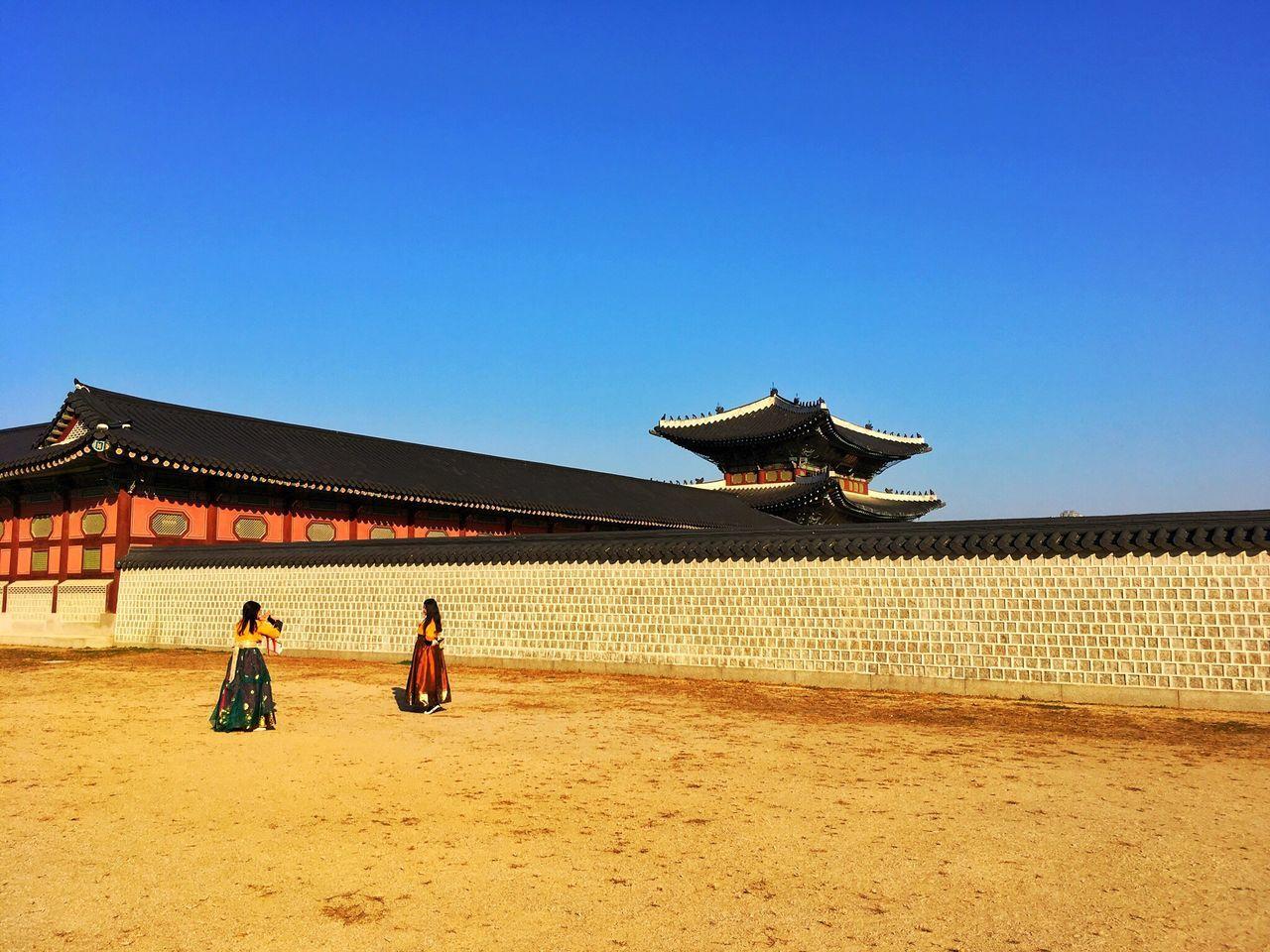 Gyungbokgung. A palace in Seoul, Korea. Architecture Blue Sky Gyungbokgung Palace Fall Autumn Korea Seoul 한국 서울 경복궁 가을 하늘 韓国 ソウル 景福宮 空