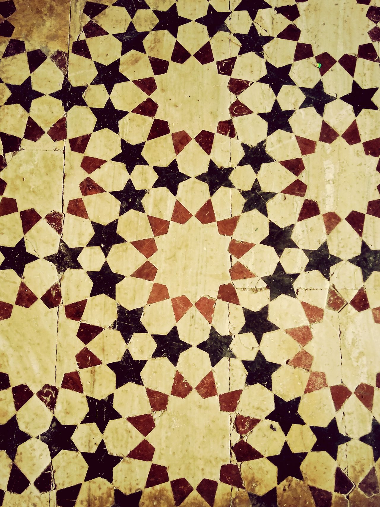 Pattern Low Section Tile Tiled Floor Indoors  bundi Fort Kota