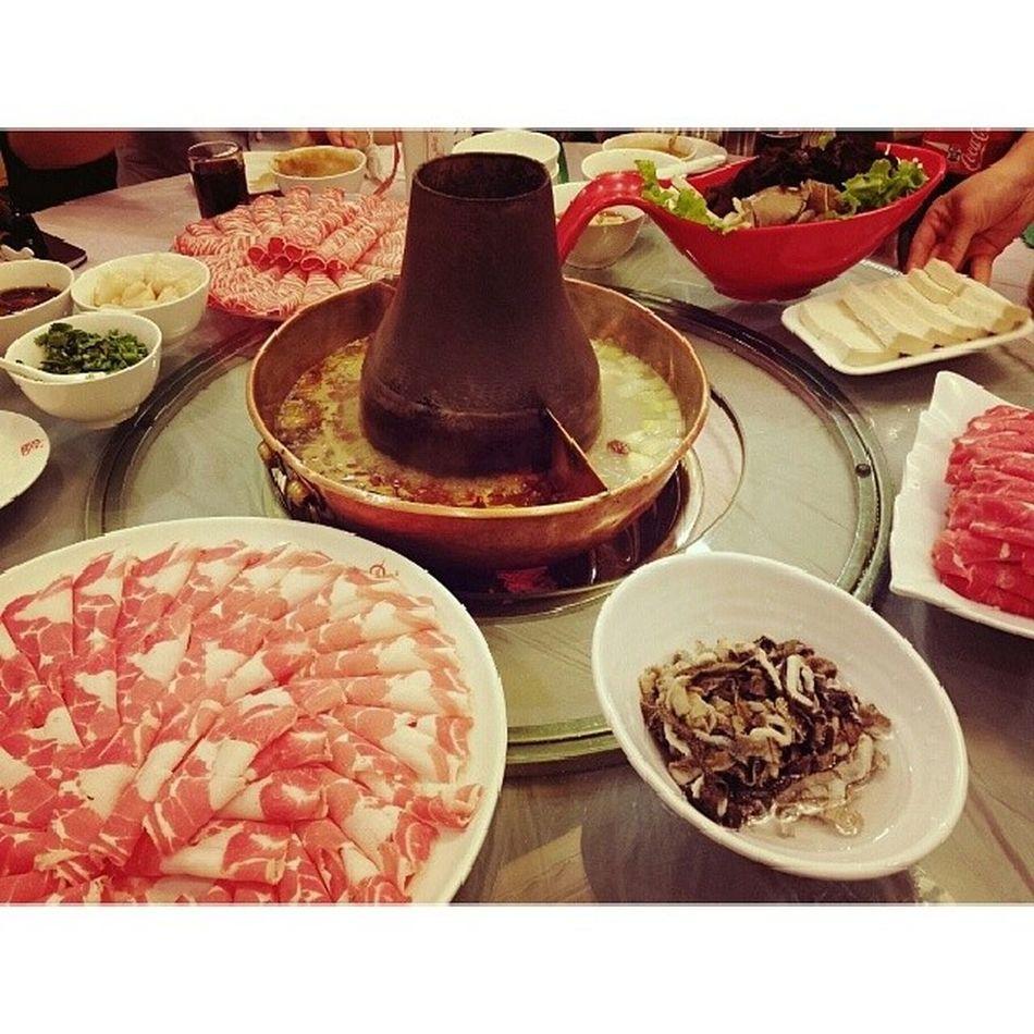 Hotpot Beijing Beijinghotpot Lunch instamood instafood foodstagram 火锅 北京火锅