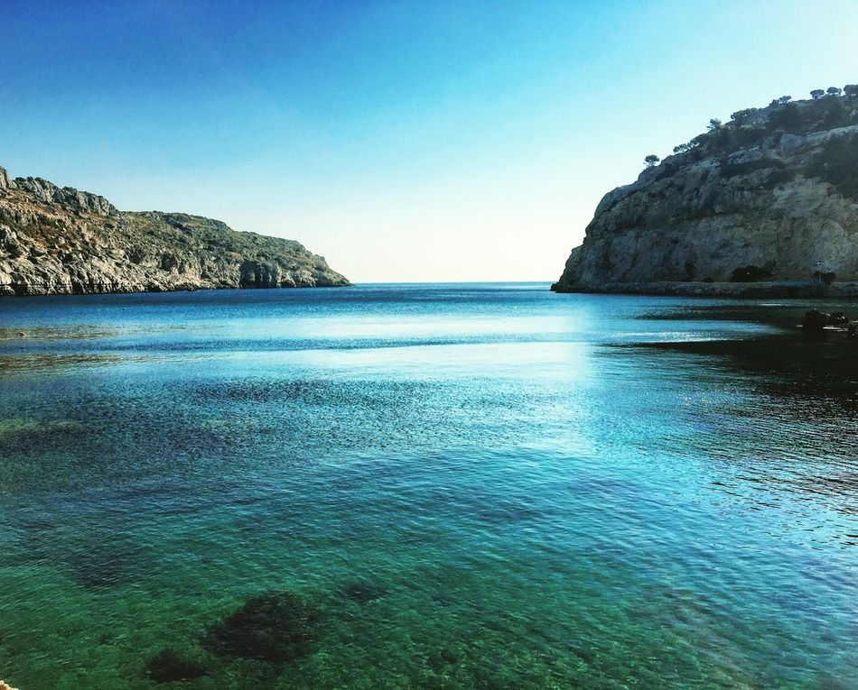 Rhodes Greece Sea Blue Scenics Horizon Over Water Beauty In Nature Water Nature Sky Tranquility Clear Sky Idyllic Nature Photography Love ♥ Enjoying Life