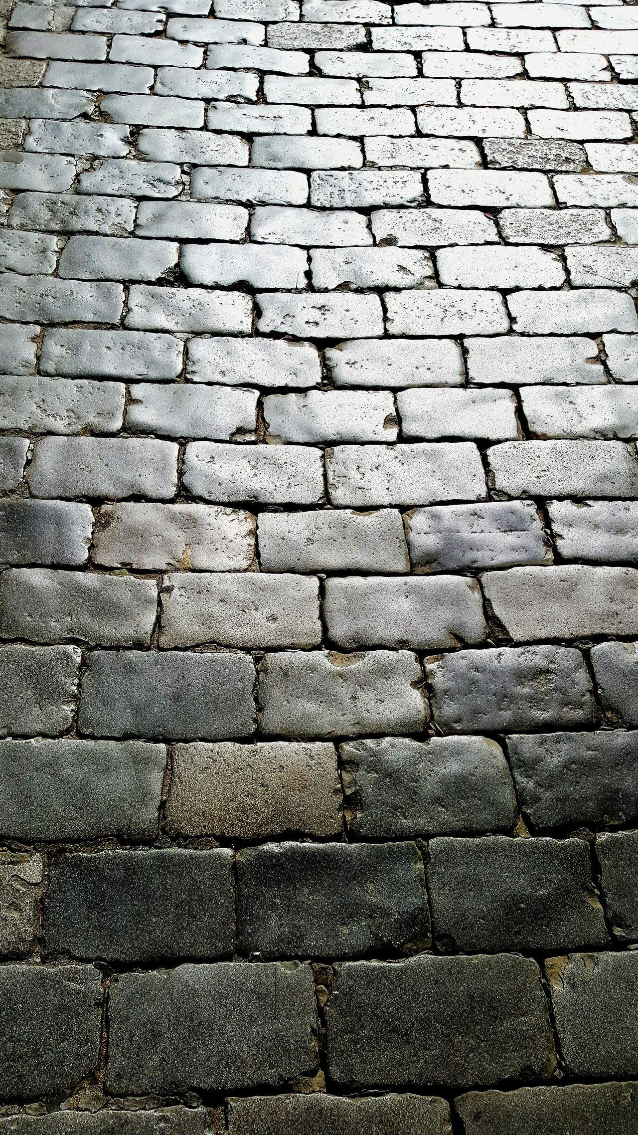 Pattern Day No People Close-up Brick Road Cobblestone Polished Polished Surface Street Photography Road Old Road