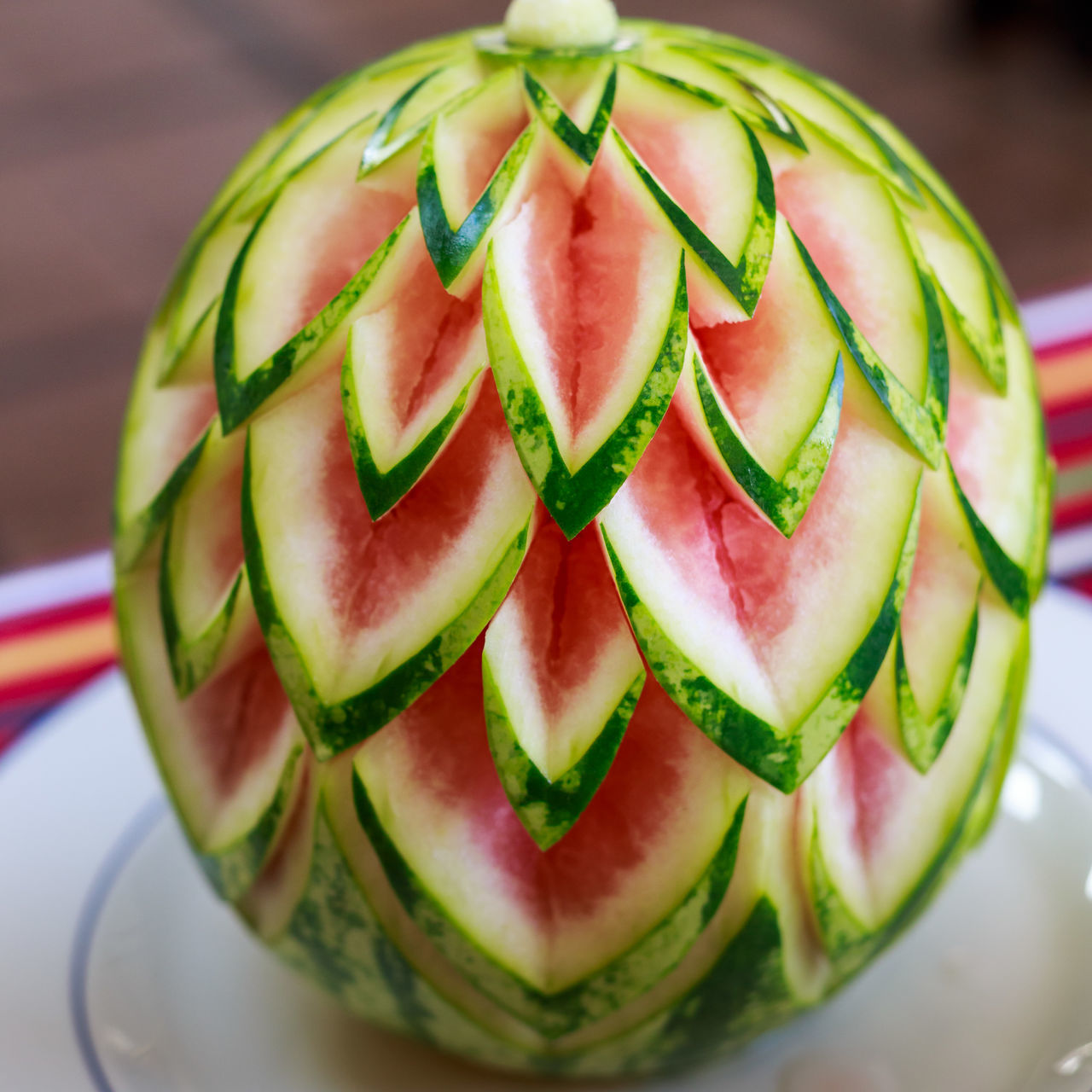 Close-Up Of Carved Watermelon