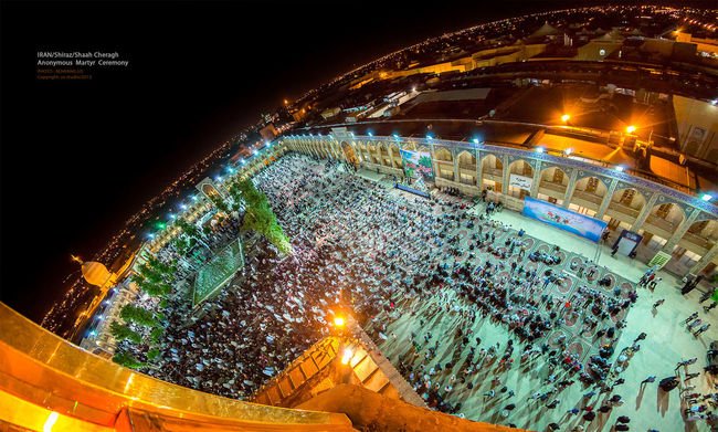 Panoramic Photography Religious Architecture Crowds Martyr Religious Ceremony Shahcheragh Iran Shiraz, Iran Behrang.us Light In The Darkness Peoples 180°