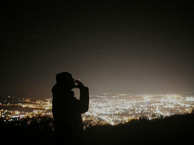 Stars Sky Full Of Stars City Dark Sky Clear Sky City Life Cityscape Night Cigarette  Cigaretts Cigarette Time Alone Thinking Thinking About Life