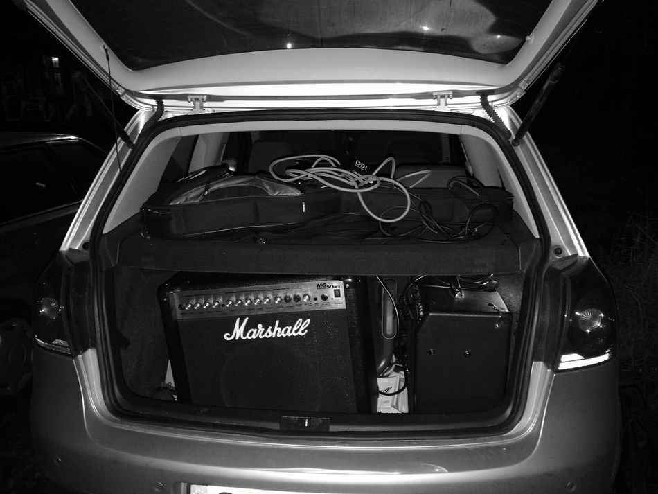After first gig. Car Adults Only Close-up Day Adult Outdoors People First Eyeem Photo Marshall Marshall Amp Fender Fender Amp Hartke HartkeAmp VW Vwgolfmk5 Musician Music