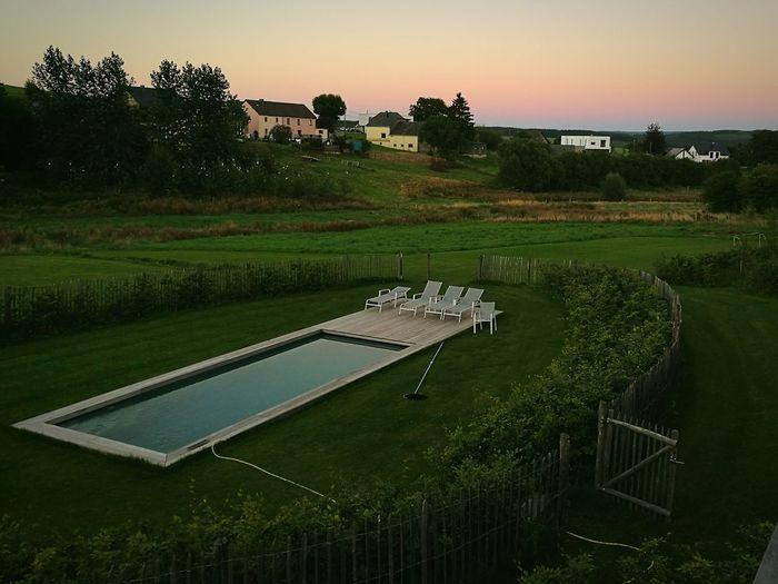 Garden View Sunset