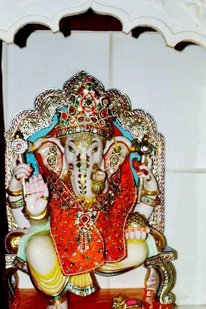 GanpatiBappaMorya Palanpur Deesahighway God Gujrat India Festival Occasion Varaidhamgoldentemple Orange
