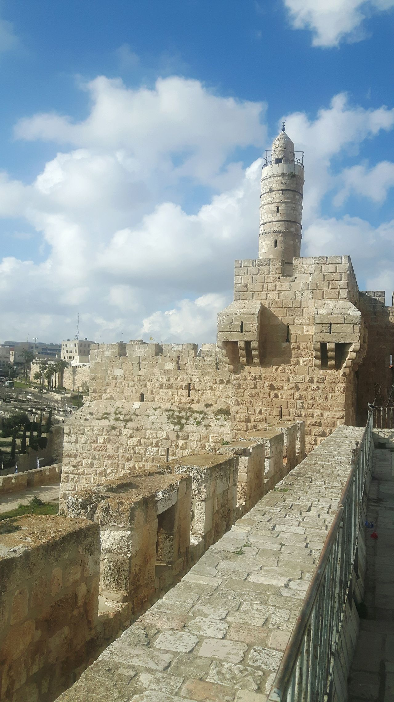 Israel Temple Mount Jerusalem Stadtmauer Above Jerusalem Rampart Jaffa Gate Ramparts Jerusalem Israel Jerusalem City Wall Jerusalem Rampartswalk Ancient Rocks Tree Green Tree Dome Of The Rock Tempelberg