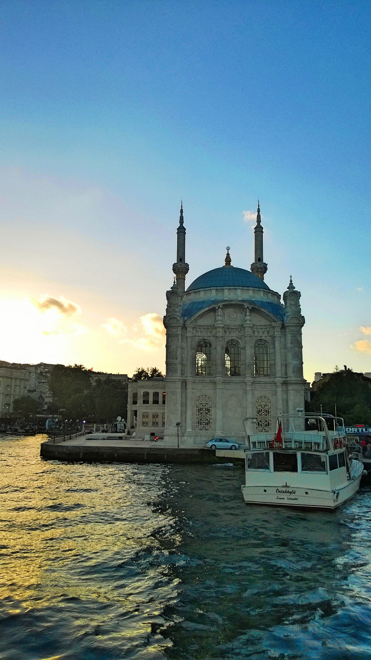 Architecture Cultures Dome Islamic Architecture Istanbul Mosque Mosque Turkey Ottoman Architecture Sky Sunset Transportation Travel Travel Destinations Waterfront