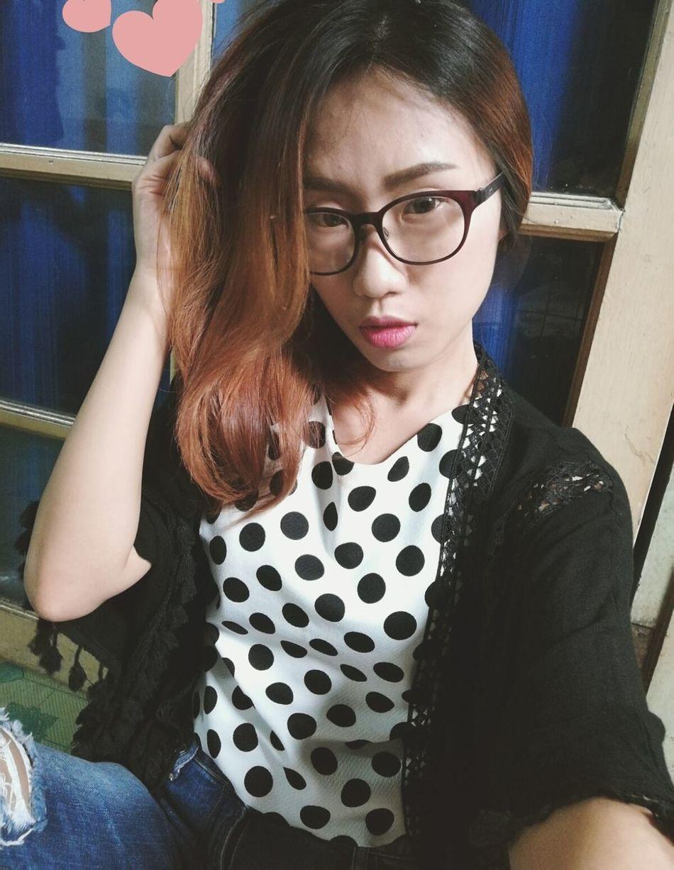 Young Adult Long Hair Eyeglasses  Happy People EyeEm Thailand Taking Photos Yinggie People Of EyeEm I'm Asian Girl ♥