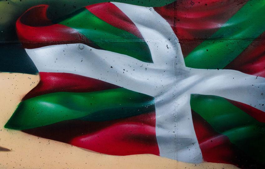 Multi Colored Full Frame Close-up Green Color No People Flag Patriotism Indoors  Day Basque Country Ikurriña Graffiti Art Graffiti Wall Graffiti & Streetart Painted Image Outdoors Graffiti Kero KeroArt