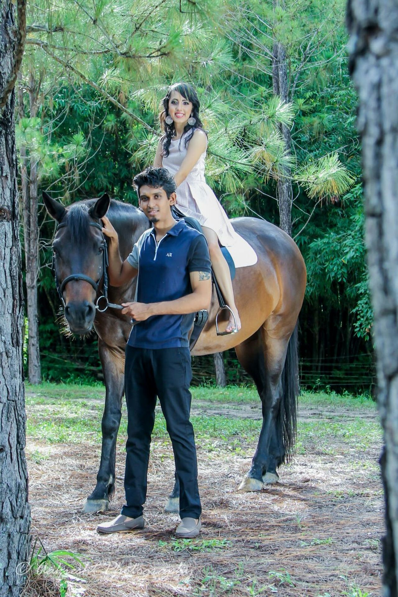 Couples Shoot Love Horse Domestic Animals Bonding Riding Full Length Togetherness Livestock Front View Mammal Working Animal Leisure Activity Women Nature Outdoors Adults Only Care Adult Tree Friendship Day Engagement First Eyeem Photo