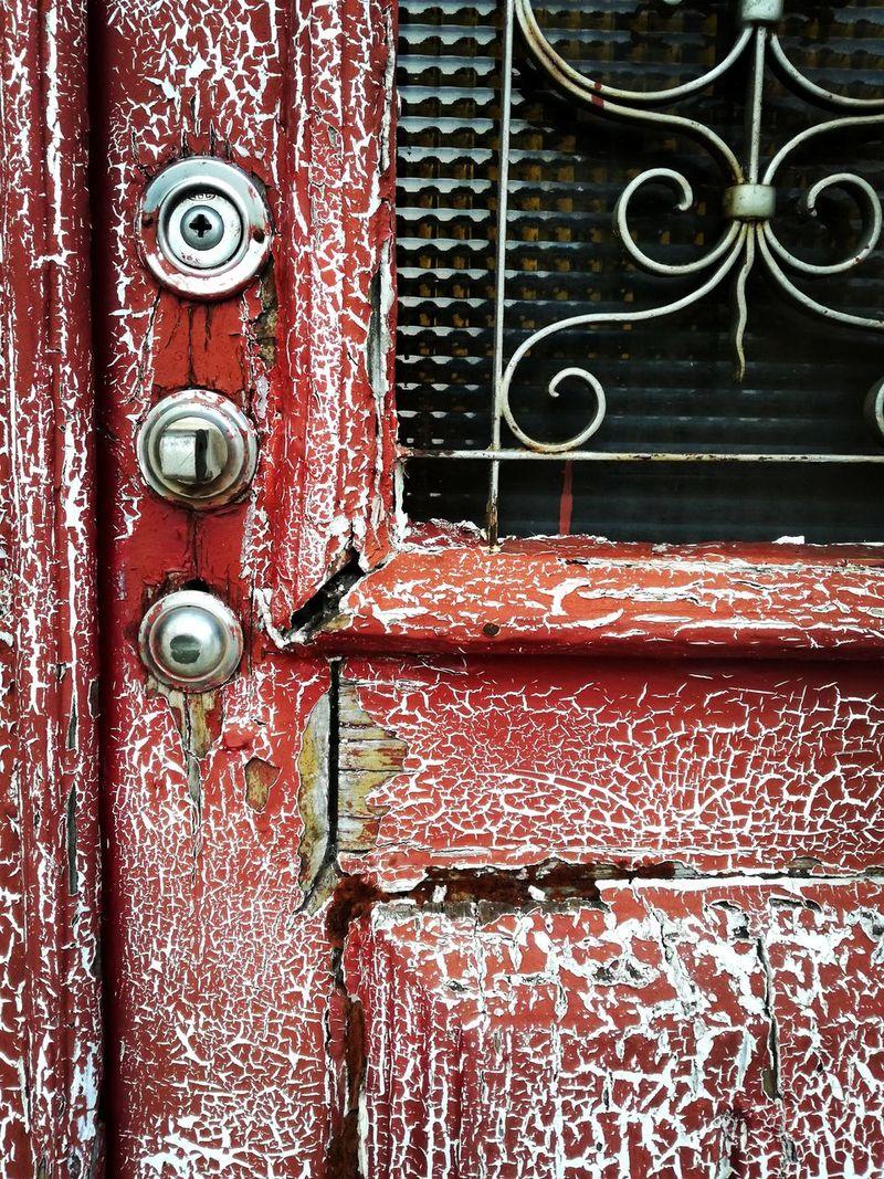 Old Red Door Red Door Erosion Effects Door Degradation Erosion Of Time Time Effect Old Door