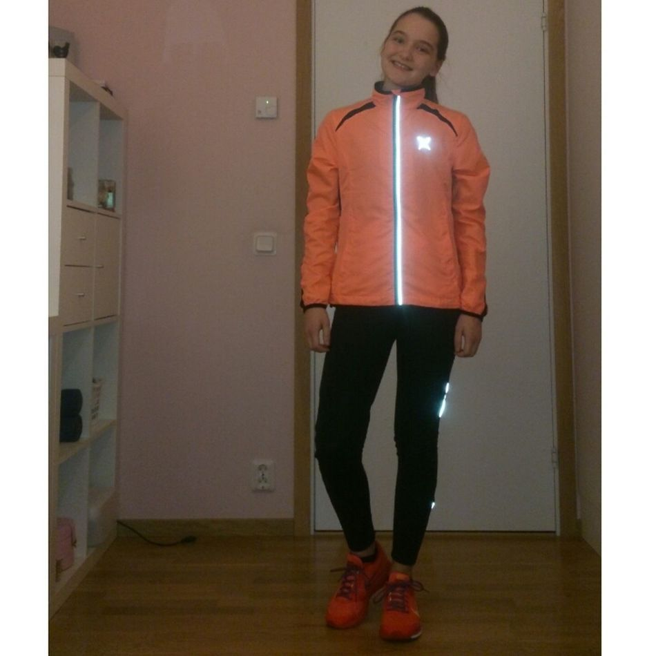 New jacket and shoes so time for a run in the dark. LOVE Running