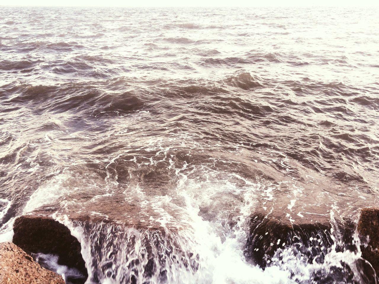 Sea Water Wave Nature No People Outdoors Beach Motion Rocks Waves Crashing