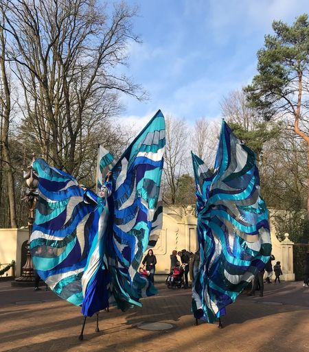 Dancers Street Dancers Tree Bare Tree Blue Day Outdoors Sky Real People