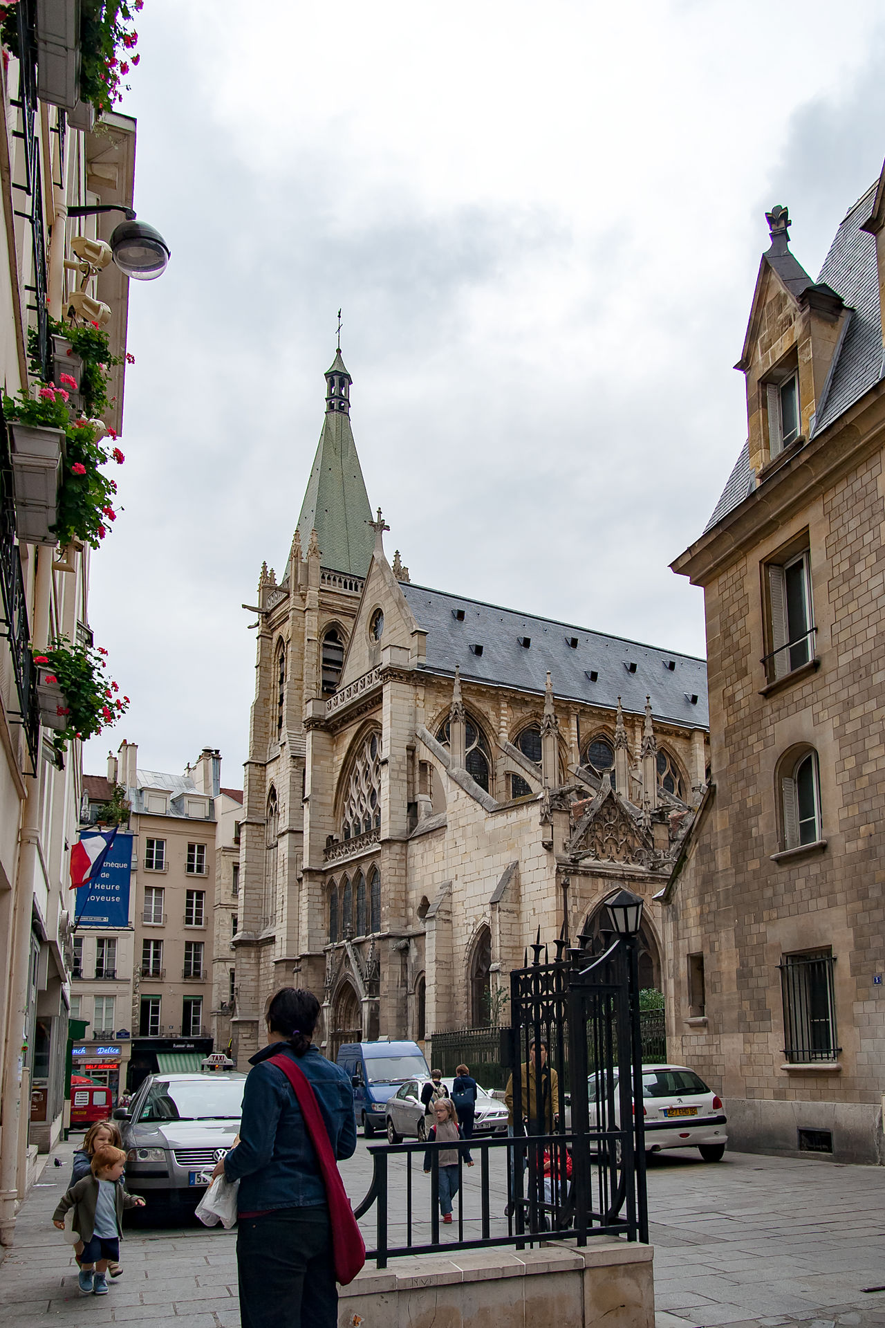 Paris, France, circa april 2016: 2016: Strolling and sightseeing in Paris Adult Adults Only Architecture Building Exterior Built Structure City City Break City Life Clock Tower Cloud - Sky Day Façade Large Group Of People Old Town Outdoors People Place Of Worship Religion Sky Town Square Travel Destinations Tree