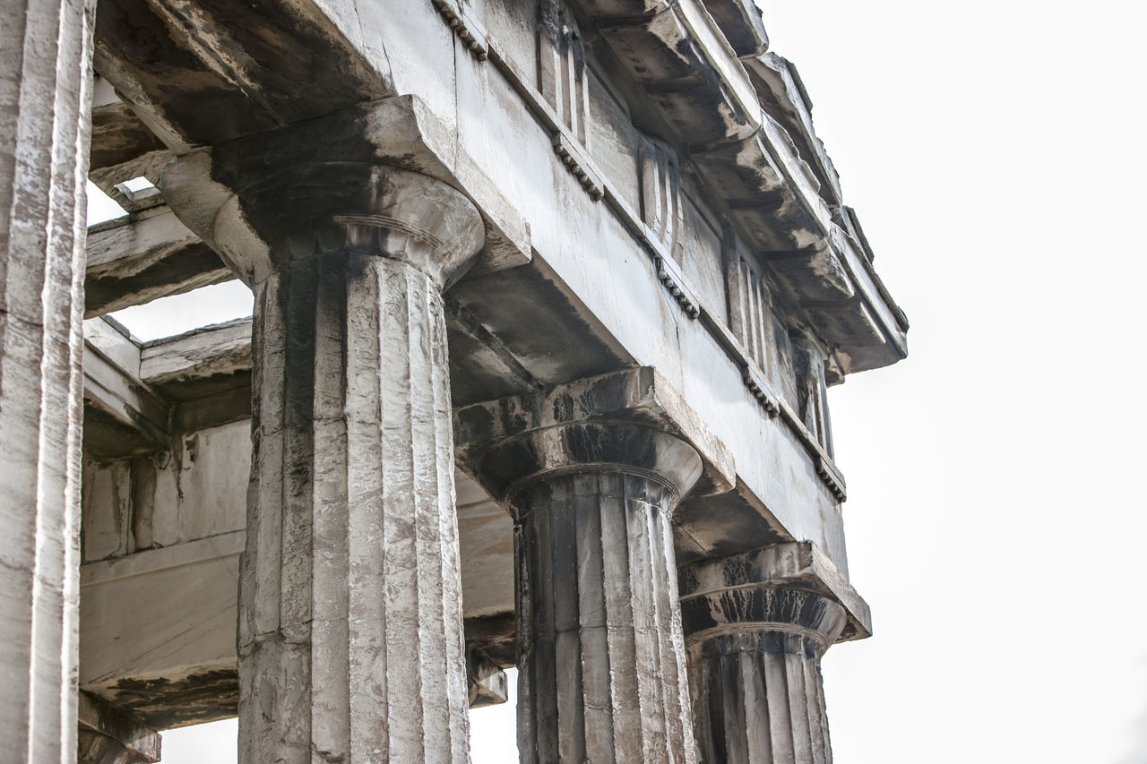 Ancient Civilization Architectural Column Architecture Athens Building Building Exterior Ceiling Greece Historic History Ornate Ruined Temple Of Hephaestus Thiseio