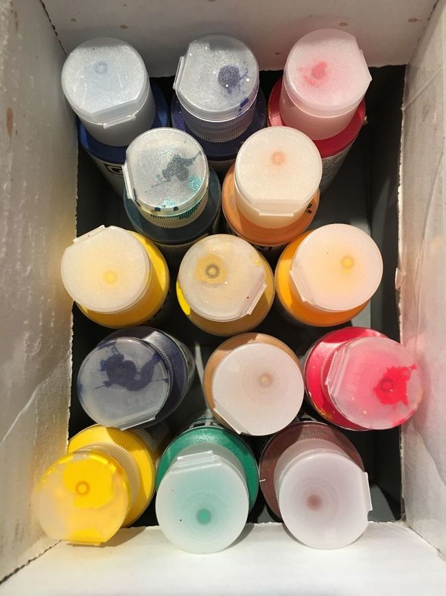 Box of Color Color Paint Acrylic Painting Colors Art ArtWork Artsy Crafts Box Of Paint Creative Create Creativity Artist