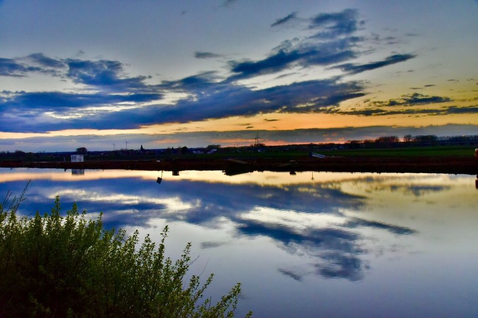 Check This Out Hanging Out Relaxing Taking Photos Sunset Sky Limburgs Landscape Water Reflections Beautiful Elsloo The Great Outdoors - 2016 EyeEm Awards